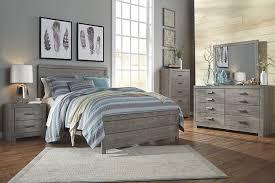 gray bedroom sets culverbach queen panel bed ashley furniture homestore