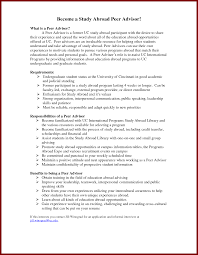 Resume Sample Of Undergraduate Student by 20 Study Abroad On Resume Example Sendletters Info