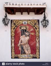 religious mural on church stock photos religious mural on church granada spain pretty tiled mural on the walls of the church of la aurora