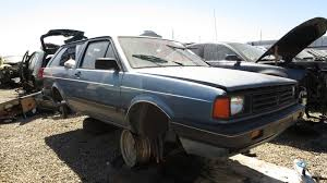 junkyard find 1988 volkswagen fox station wagon