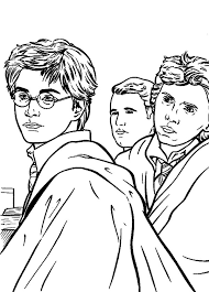 kids drawing harry potter coloring netart