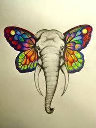 elephant with butterfly wings wallpaper