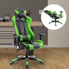 Racing Office Chairs Homcom 360 Degree Swivel Gaming Racing Office Chair With Waist