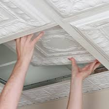 Installing Ceiling Tiles by Ceilume Ceiling Tiles And Ceiling Panels