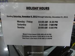 costco open on thanksgiving costco 2013 holiday hours 11 09 13 u2013 12 21 13