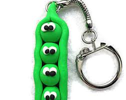 peas in a pod keychain two peas in a pod clay keyring vegetarian keychain pea pod