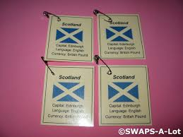 mini scotland flag capital thinking day scout swaps kids
