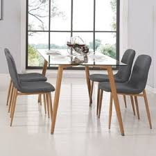 Glass Dining Room Table And Chairs Modern Glass Dining Kitchen Tables Allmodern