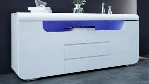 buffet design bahut design lumineux blanc 2 portes 3 tiroirs nao gdegdesign