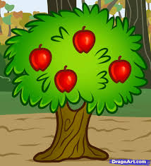 how to draw a fruit tree step by step trees pop culture free