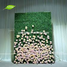 wedding backdrop grass gnw plastic boxwood silk flower backing wall decor wedding