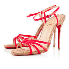 christian louboutin belle zeppa 100mm ankle boots red christian
