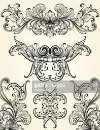 flourish scrolls vector getty images