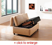 Pull Out Ottoman Cappuccino Leather Pull Out Size Bed