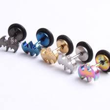 batman earrings hot sales batman cheater ear with o ring for jewelry