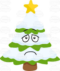 a depressed christmas tree cartoon clipart vector toons