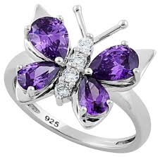 rings butterfly images Purple amethyst butterfly ring tradesy jpg