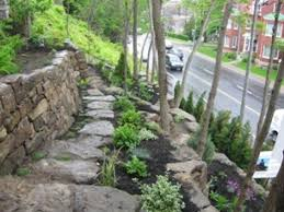 Tiered Backyard Landscaping Ideas Create Stone Wall In The Garden Ideas For Attractive Garden