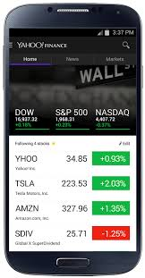 yahoo apps for android yahoo finance apps redesigned with news and interactive graphs