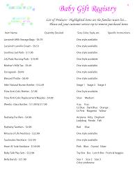 checklist for baby shower registry zone romande decoration