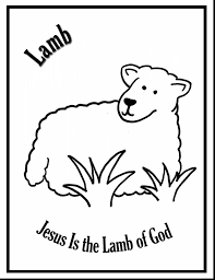 fabulous lamb coloring pages for kids with lamb coloring page