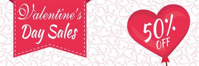 valentines sale s day sale banner heart theme large vinyl banner