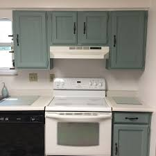 duck egg blue chalk paint kitchen cabinets kitchen makeover on a budget before and after blocks from
