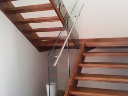 open riser with glass steel stairs melbourne balustrade