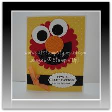 elmo birthday card stamps to die for