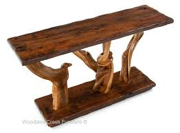 Rustic Sofa Table by Log Sideboards And Sofa Tables Archives Woodland Creek Furniture