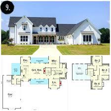 farmhouse floor plans modern farmhouse open floor plans
