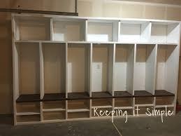 keeping it simple diy garage mudroom lockers with lots of storage