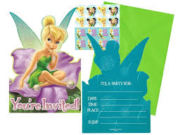 tinkerbell party supplies invitations