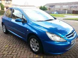 blue peugeot for sale peugeot 2002 307 rapier hdi blue car for sale