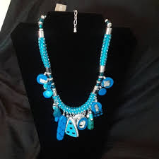 blue fashion necklace images Chico 39 s jewelry chicos fun fashion necklace bluenwt poshmark jpg