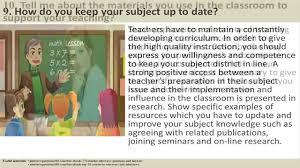 Kindergarten Teacher Job Description 170 Teacher Interview Questions And Answers Youtube