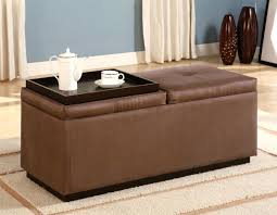 Coffee Table Storage by Unique And Creative Tufted Leather Ottoman Coffee Table Homesfeed