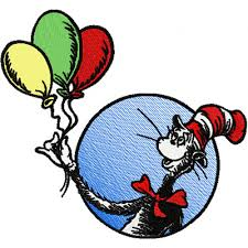 dr seuss balloons dr seuss cat in the hat with balloons embroidery design