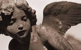 sculpture angel stone wings hd wallpaper