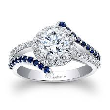 sapphire and engagement rings barkev s engagement ring with blue sapphires 7857lbs