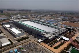 A Construction China And Semiconductors Samsung Electronics Global Tri Lateral Production System Completed