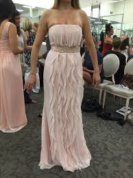 vera wang bridesmaid vera wang pink blush chiffon feminine bridesmaid mob dress size 6