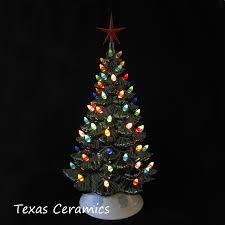 Vintage Atlantic Mold Ceramic Christmas Tree by Old Fashioned Ceramic Christmas Tree Large 18 Inches Tall Multi