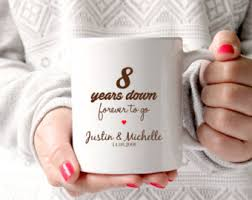 8th wedding anniversary gifts for him 8th anniversary gift etsy