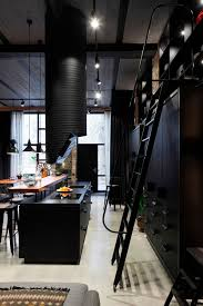Industrial Apartment Apartment Uv Goes Modern Industrial Using Exposed Metal Brick And