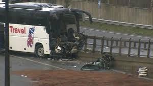 m4 motorway reopens after coach crash near newport bbc news