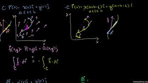 line integrals and vector fields video khan academy