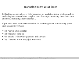 Marketing Intern Resume Marketing Intern Cover Letter