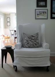 slipcover wing chair slipcovered wingback chair foter