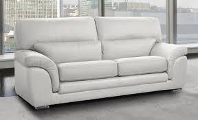 canapes cuir pas cher le petit canapé cuir blanc pas cher du moment